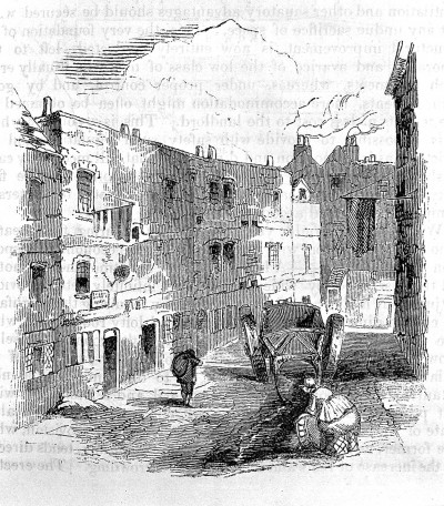 "L0001447 Westminster slum known as ""Snow's rents"", 1844"