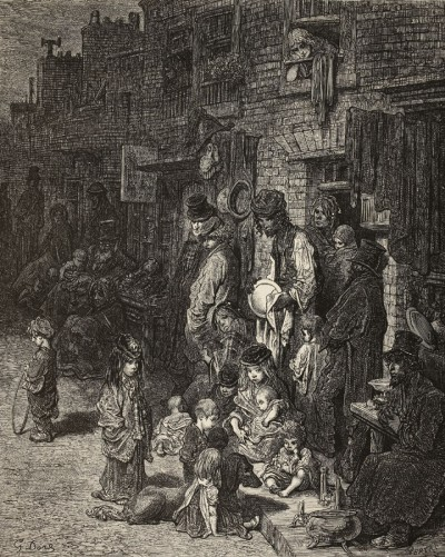 WentworthSt, Whitechapel, Gustav Dore, 'London- a pilgrimage', 1872 WF1:1856 copy